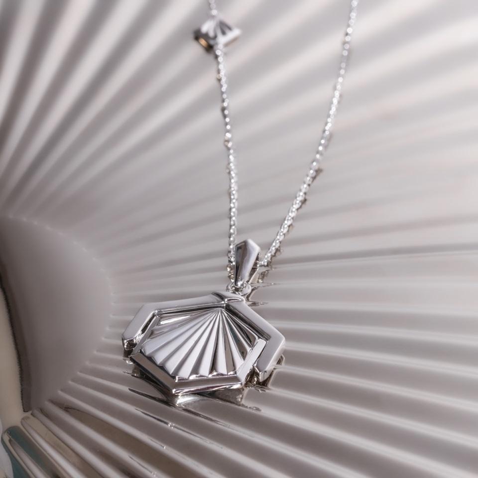 Kit Heath Empire Deco Hexagonal Spinner Necklace