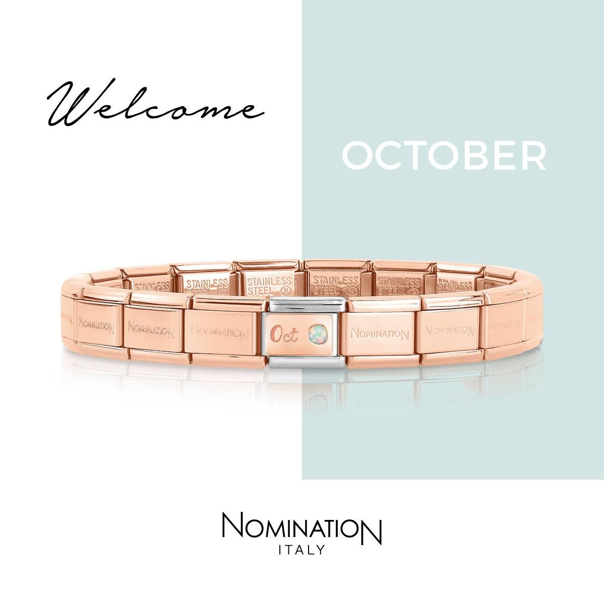 Nomination October Rose Gold Charm for Composable Bracelet