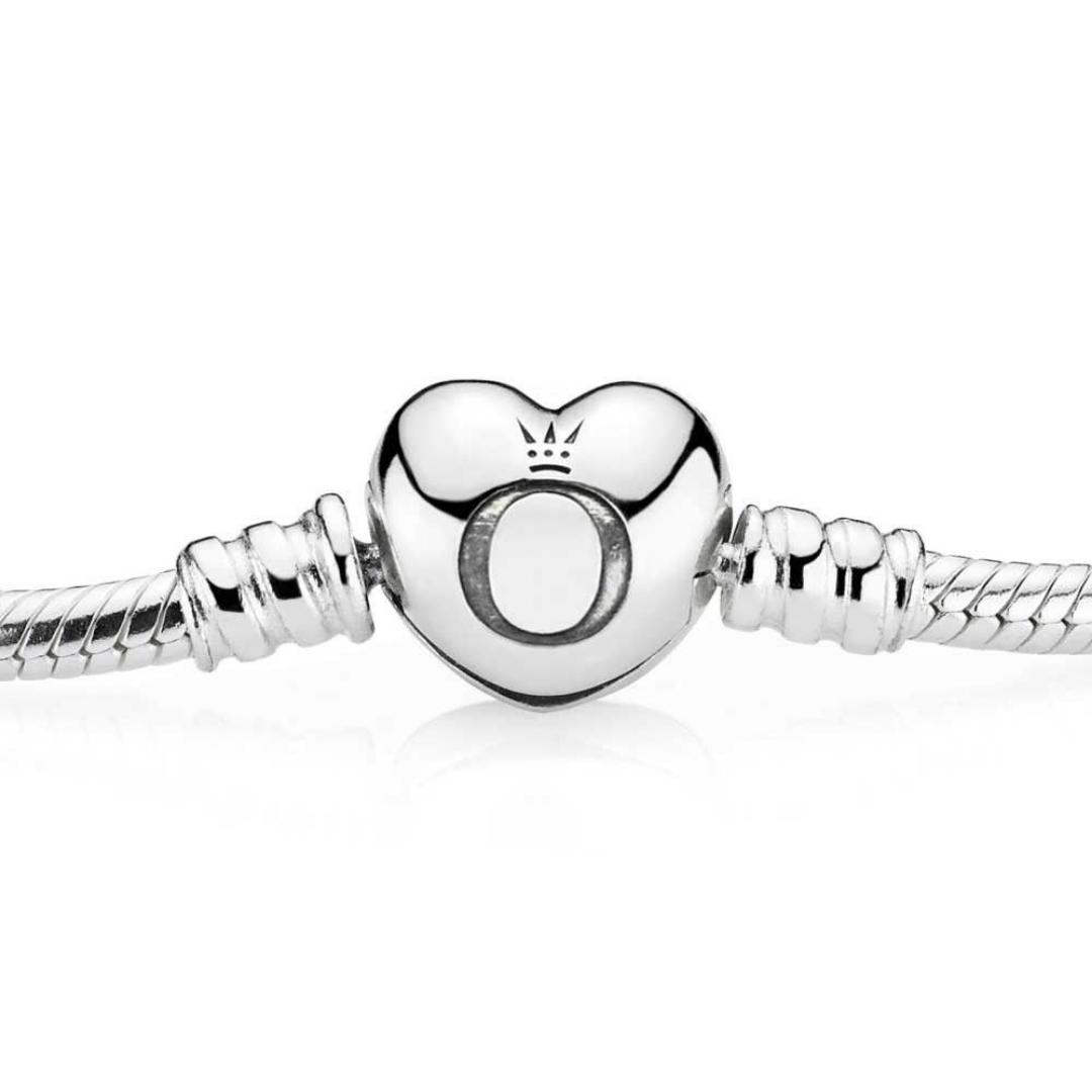Pandora Moments Silver Heart Clasp Bracelet