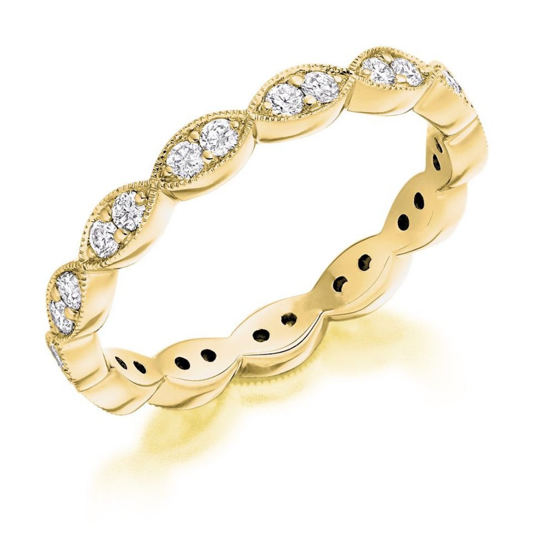 Raphael Collection Full Eternity ring in yellow gold