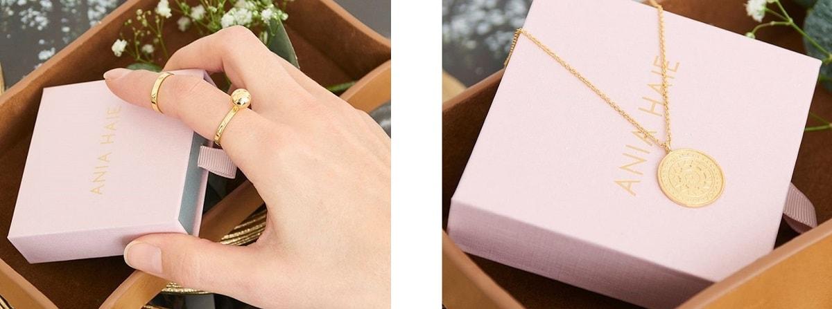 Ania Haie jewellery packaging