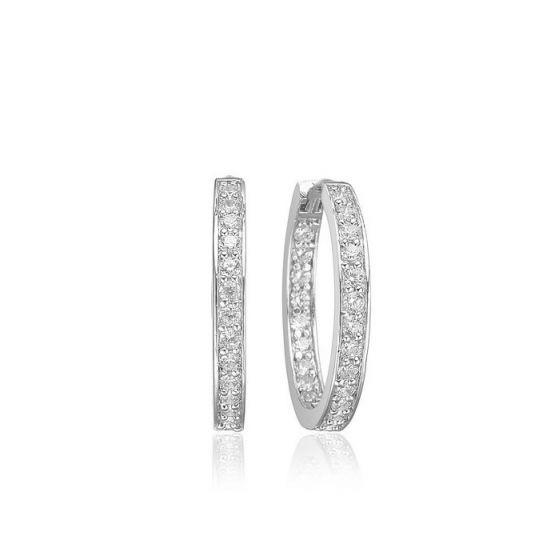 Sif Jakobs Corte Earrings - Silver with White Zirconia
