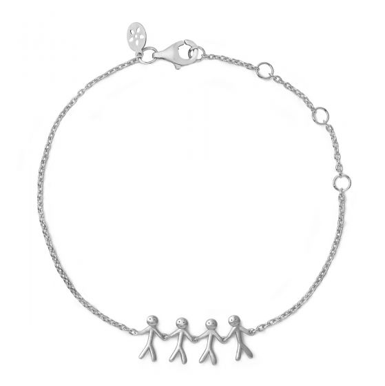 byBiehl Together Family 4 Silver Bracelet
