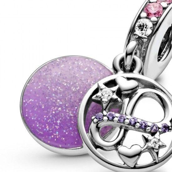 Pandora Glittering Infinity Hearts and Stars Dangle Charm-798829c01