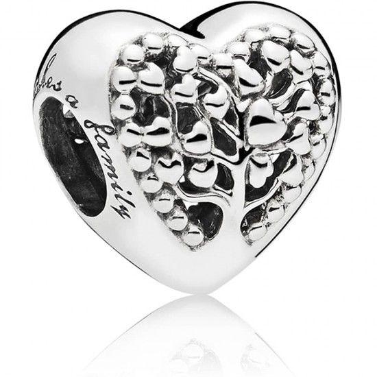 Pandora Family Tree Heart Charm 797058
