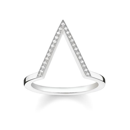 Thomas Sabo Silver and Diamond Triangle Ring D_TR0020-725-14