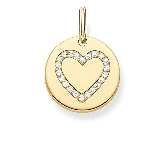 Thomas Sabo Pendant - Gold Heart Disc LBPE0005-414-14