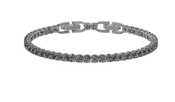 Swarovski Tennis Deluxe Bracelet, Black, Ruthenium Plating 5504678