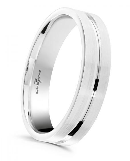 Brown & Newirth 'Atom' Wedding Band, For Him ANFP1126