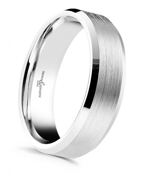 Brown and Newirth Dexter men's wedding ring ANFP567