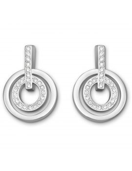 Swarovski Circle Earrings Rhodium