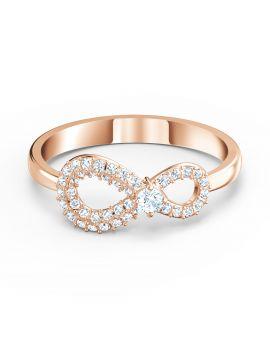 Swarovski Infinity Ring - Rose Gold Plated