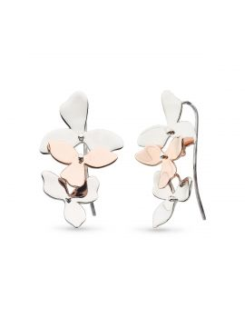 Kit Heath Blossom Petal Bloom Trio Rose Gold Plate Drop Earrings