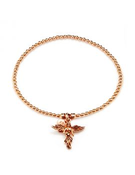 Annie Haak Santeenie Rose Gold My Guardian Angel Bracelet