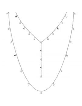 Swarovski Penélope Cruz Moonsun Necklace Set, White, Rhodium Plating