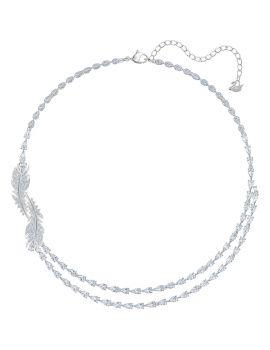 Swarovski Nice Necklace, White, Rhodium Plating