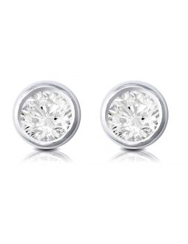 Brown & Newirth Round brilliant rub over diamond earrings