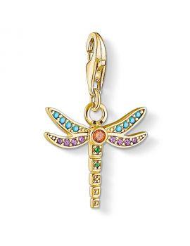 "Thomas Sabo Charm Pendant ""Dragonfly"" Yellow Gold Plating"