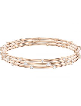 Swarovski Penelope Cruz Moonsun Cluster Bangle, White, Rose Gold Plating