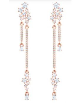 Swarovski Penélope Cruz Moonsun Drop Pierced Earrings, White, Rose Gold Plating