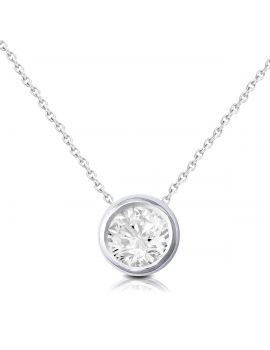 Brown & Newirth Round brilliant rub over diamond pendant