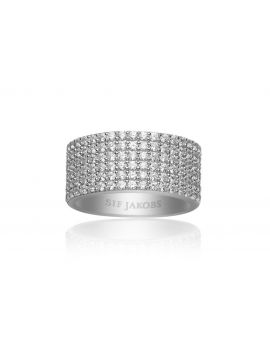 Sif Jakobs Corte Cinque Ring with white zirconia