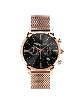 "Thomas Sabo Men's Watch ""REBEL SPIRIT CHRONO"" Mesh Rosé"