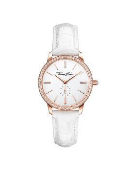 Thomas Sabo Women's Glam Spirit Watch, Pavé Rose and White