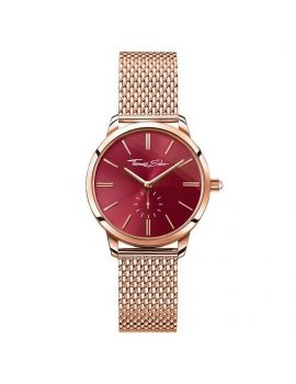 "Thomas Sabo Women's Watch ""GLAM SPIRIT"" Mesh Rosé Red WA0276-265-212"