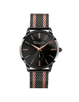 "Thomas Sabo Men's Watch ""REBEL SPIRIT"" Mesh Bico Black Rosé"