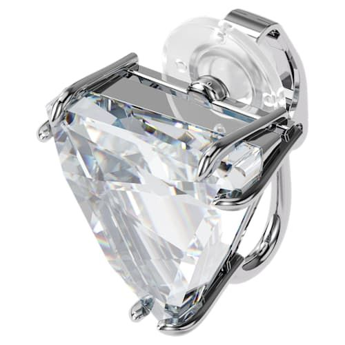 Swarovski Mesmera Single Clip Earring Delta Cut - White with Rhodium Plating-5600753