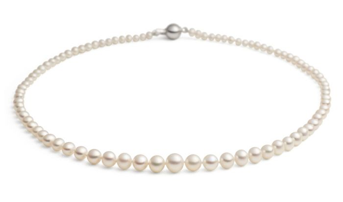 """Jersey Pearl 16"""" Graduated Pearl Necklace"""