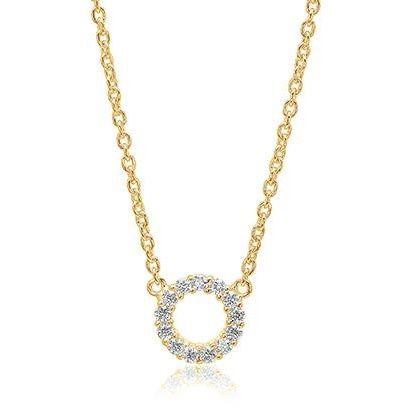 Sif Jakobs Biella Piccolo Necklace - Gold with White Zirconia