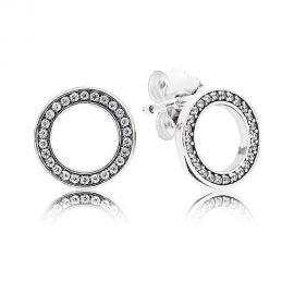 Pandora Sparkling Circle Stud Earrings 290585CZ