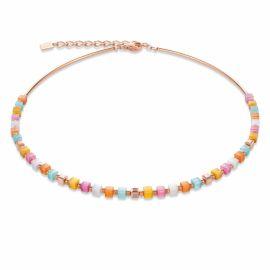 Coeur De Lion Tiger's Eye and Crystal Multicolour Pastel Necklace 4997101522