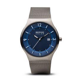 Bering Solar Brushed Grey Watch