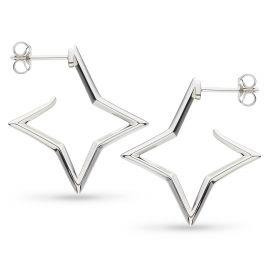 Kit Heath Empire Astoria Star Outline Hoop Stud Earrings
