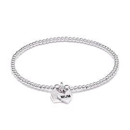 Annie Haak Santeenie Silver Charm Bracelet - Mum
