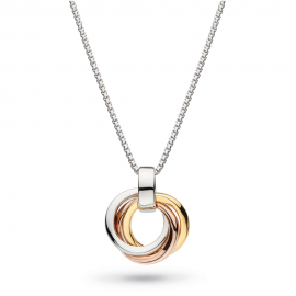 Kit Heath Bevel Cirque Trilogy Small Gold and Rose Gold Necklace
