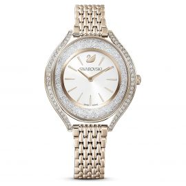 Swarovski Crystalline Aura Watch - Metal Bracelet Champagne Gold Tone