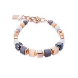 Coeur de Lion Rose Gold Geocube Bracelet - 4963301523