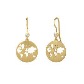 byBiehl Beautiful World Gold Earrings 4-1601-GP