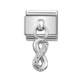 Nomination Classic Stainless Steel and 925 Silver Infinity Drop Charm 331800_10