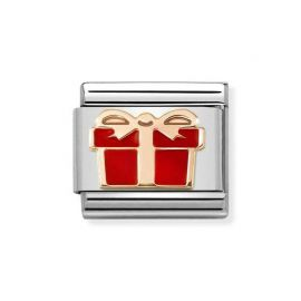 NOMINATION Composable Classic SYMBOLS Steel, Enamel and Gold 375 RED Gift Box 430202_07