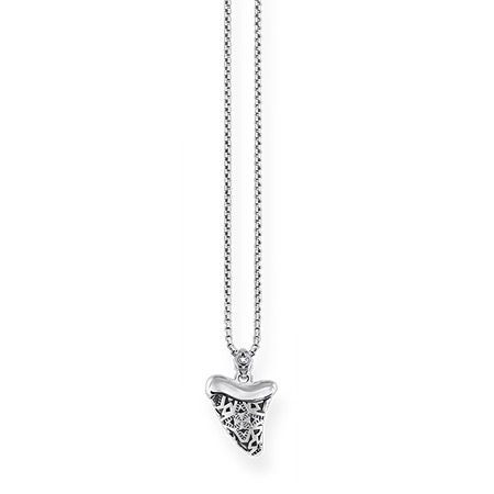 Thomas Sabo Silver and Diamond Ethnic Tooth Necklace D_KE0014-356-21