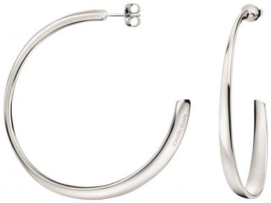 Stainless Steel Polished J Hoop Post Earrings