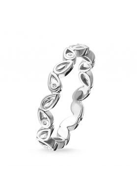 Thomas Sabo Silver and Diamond Leaves Ring