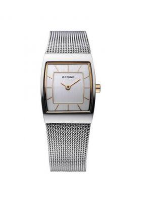 Bering Ladies Silver Rectangle Milanese Watch
