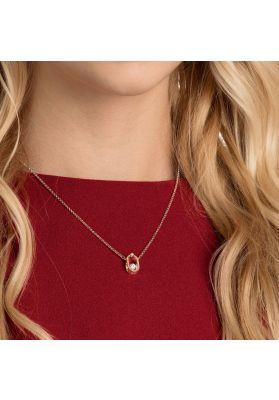 Swarovski North Necklace, White, Rose Gold Plating