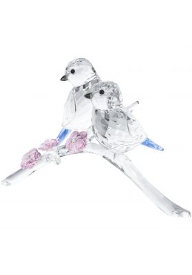 Swarovski Crystal Blue Tits Bird Couple